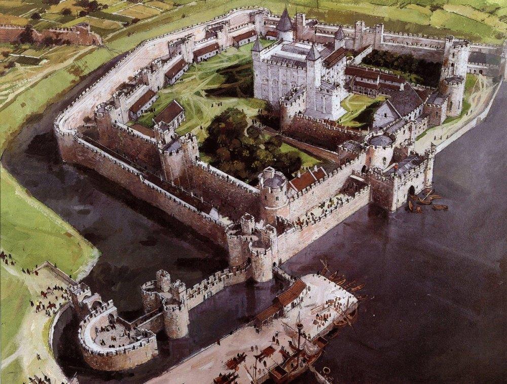 Замок Тауэр сверху