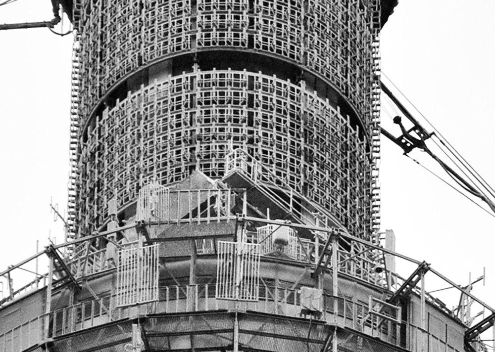 Строительство Останкинсокой телебашни