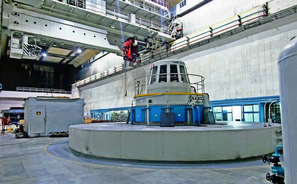Машинный зал Чиркейской ГЭС