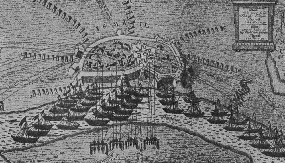 Гравюра, план штурма