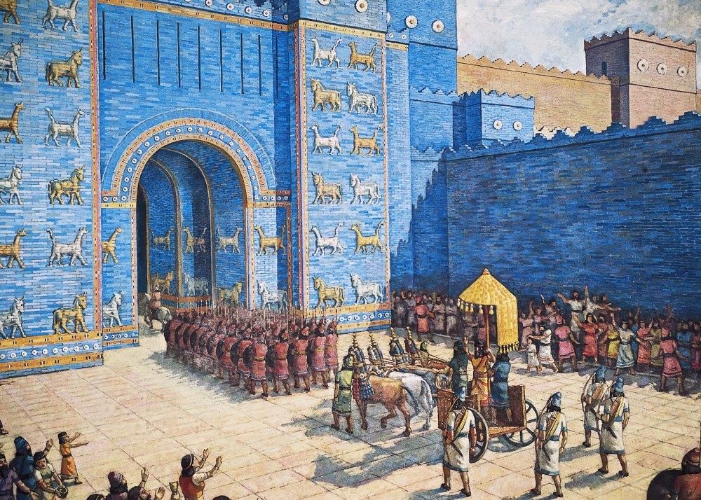 Ворота богини Иштар глазами художника