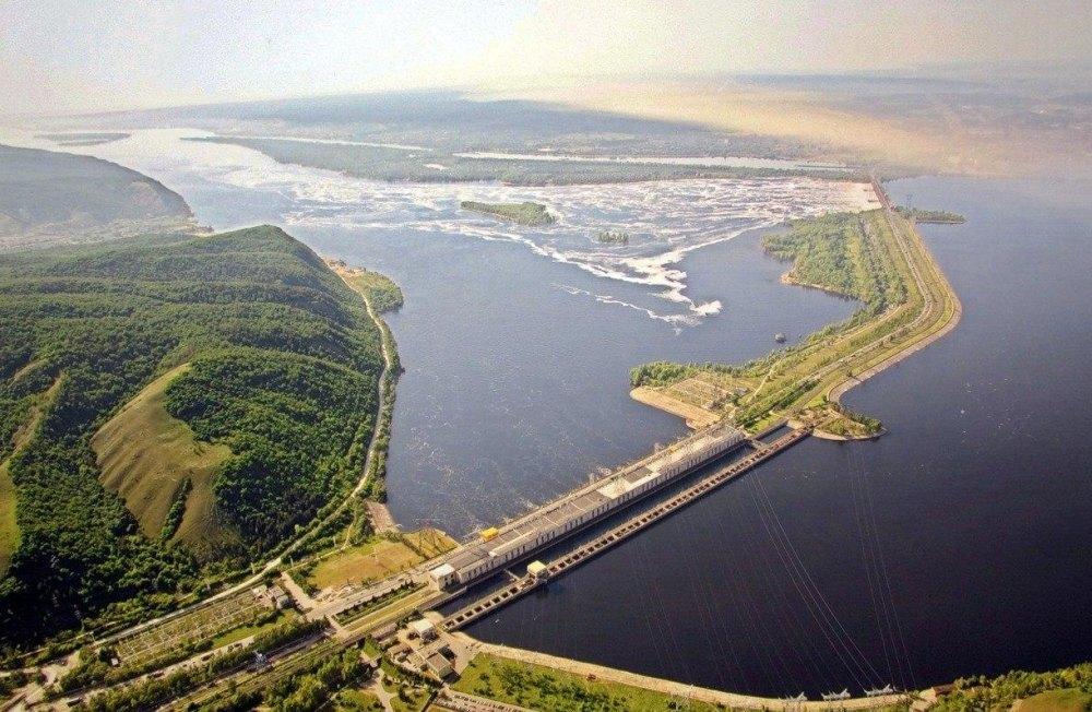 Жигулевская ГЭС с высоты