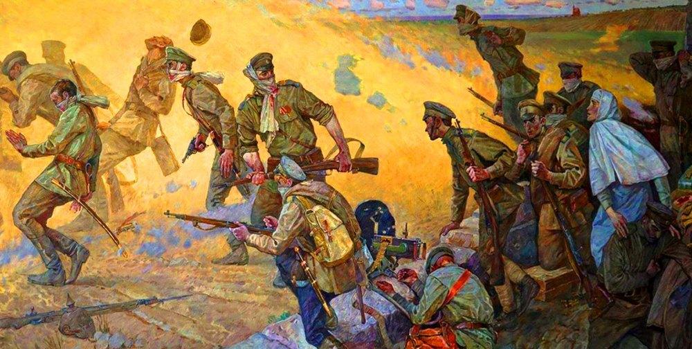 Иллюстрация битвы за Осовец