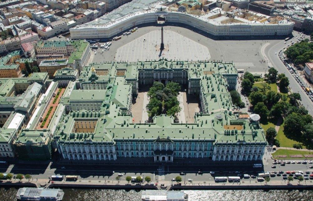 Зимний дворец, вид сверху
