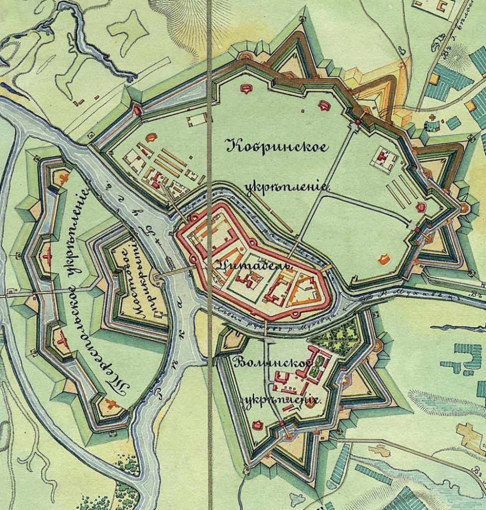 Схема Бресткой крепости