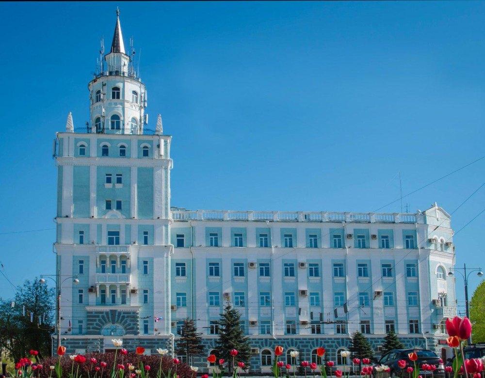 Башня на здании УВД Пермского края