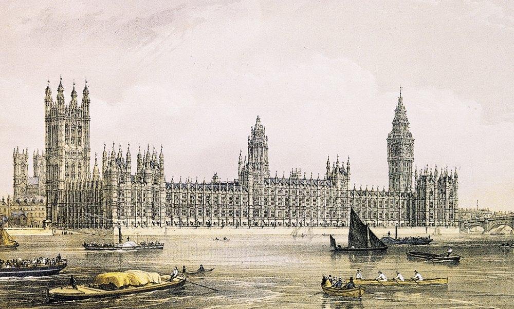 Фото британского парламента 19 века