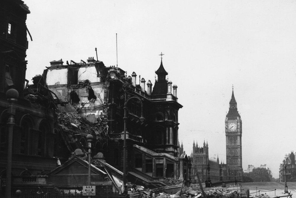 Разрушения во время ВОВ