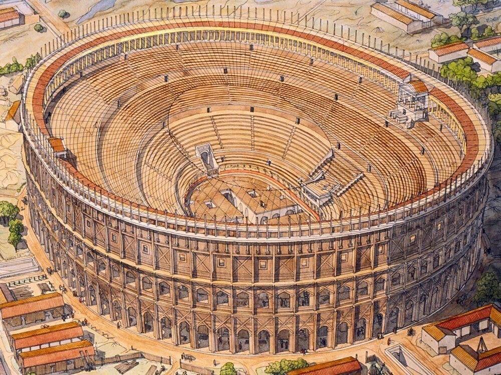 Так выглядел Колизей, рисунок