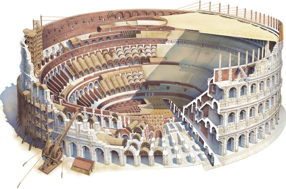 Колизей в разрезе