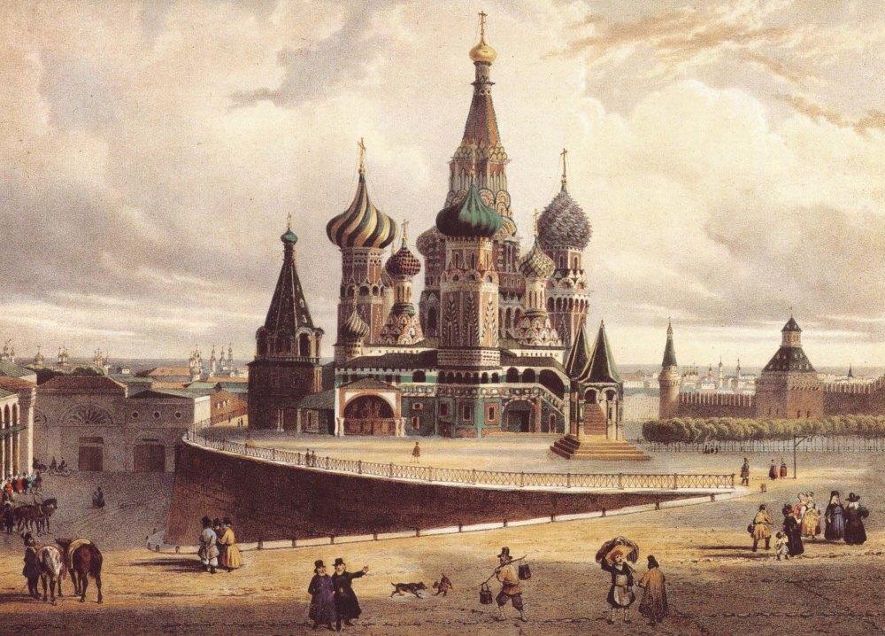 Храм в начале существования, рисунок
