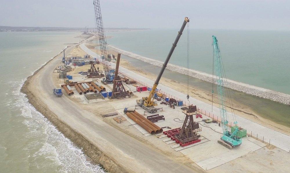 Стройплощадка моста