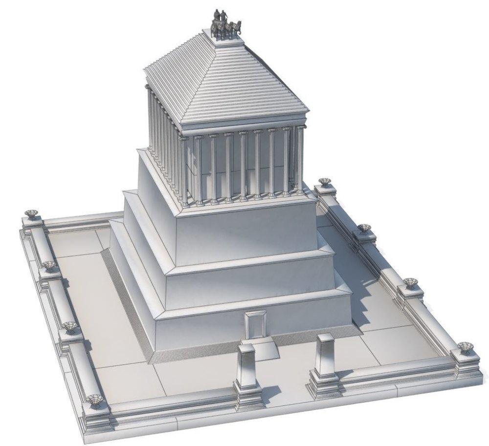 Схема Мавзоля в Галикарнасе