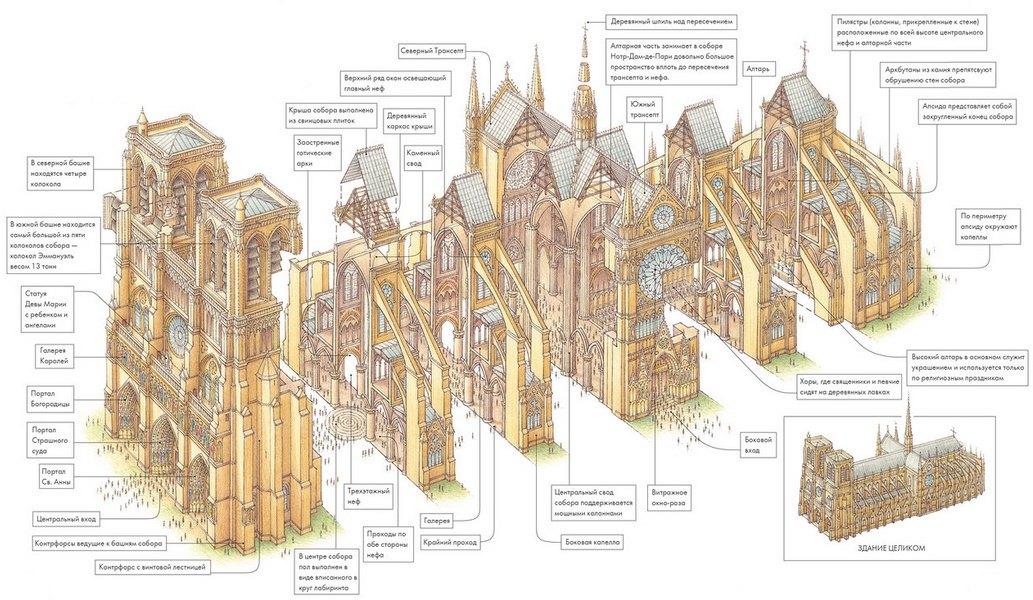Схема собора Парижской Богоматери