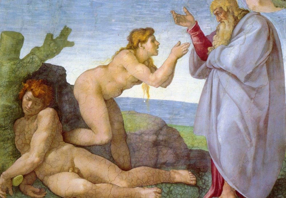 Адам и Ева, Микеланджело