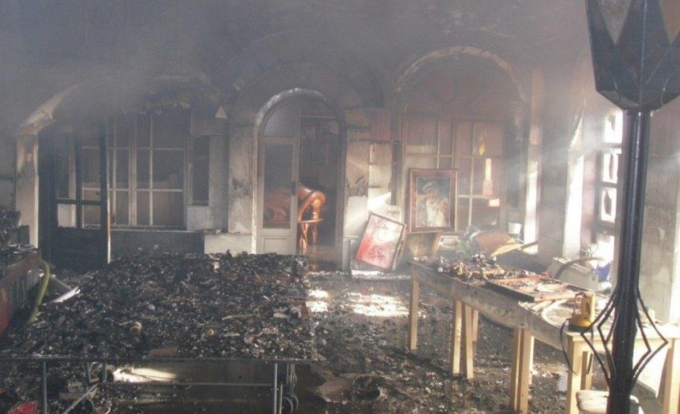 Пожар уничтожил храм-музей