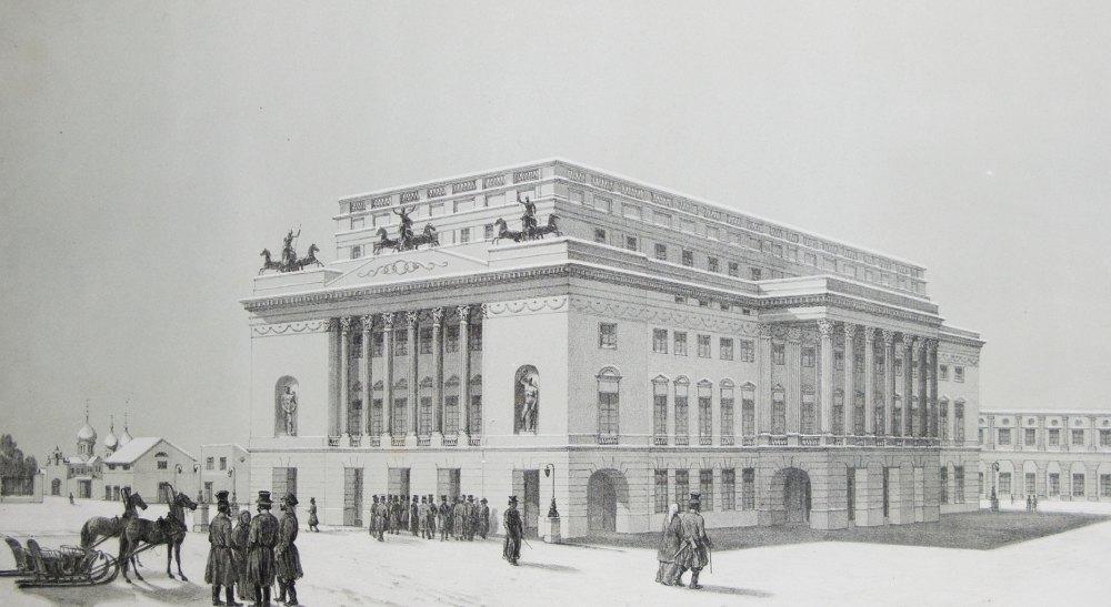 Театр построили в глубине площади Островского