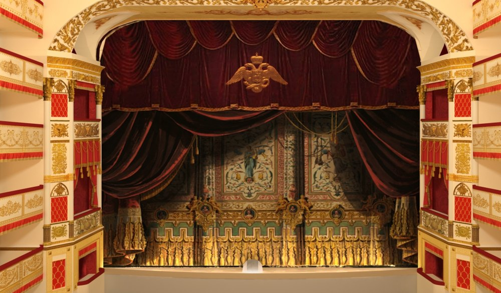 Сцена Александрийского театра