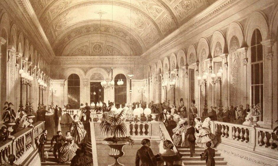 Фойе в 19 веке