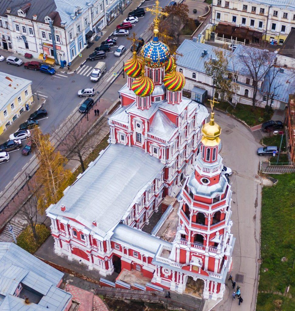 Строгановская церковь на Рождественской улице Нижнего Новгорода