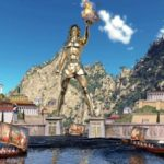 Колосс Родосский на древнегреческом острове Родос
