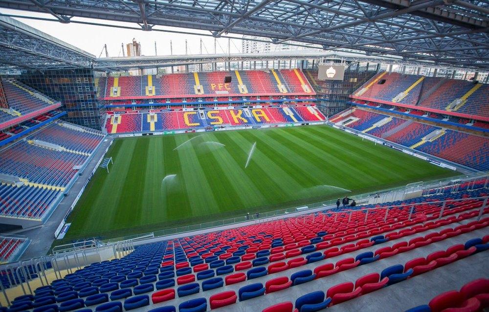 Футбольное поле стадиона ЦСКА