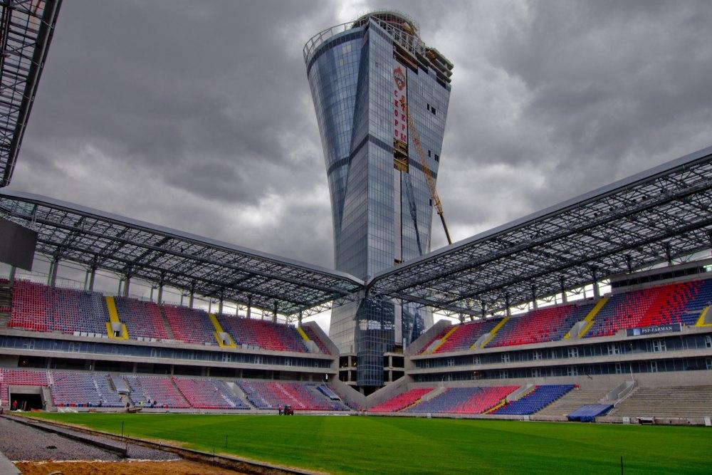 Башня в виде кубка УЕФА