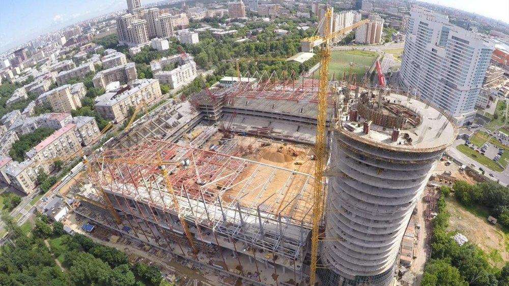 Строительство «ВЭБ Арены»