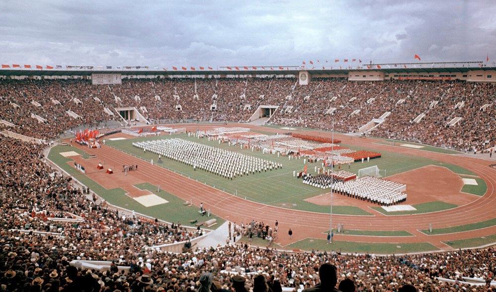 Таким был стадион «Лужники» в советское время