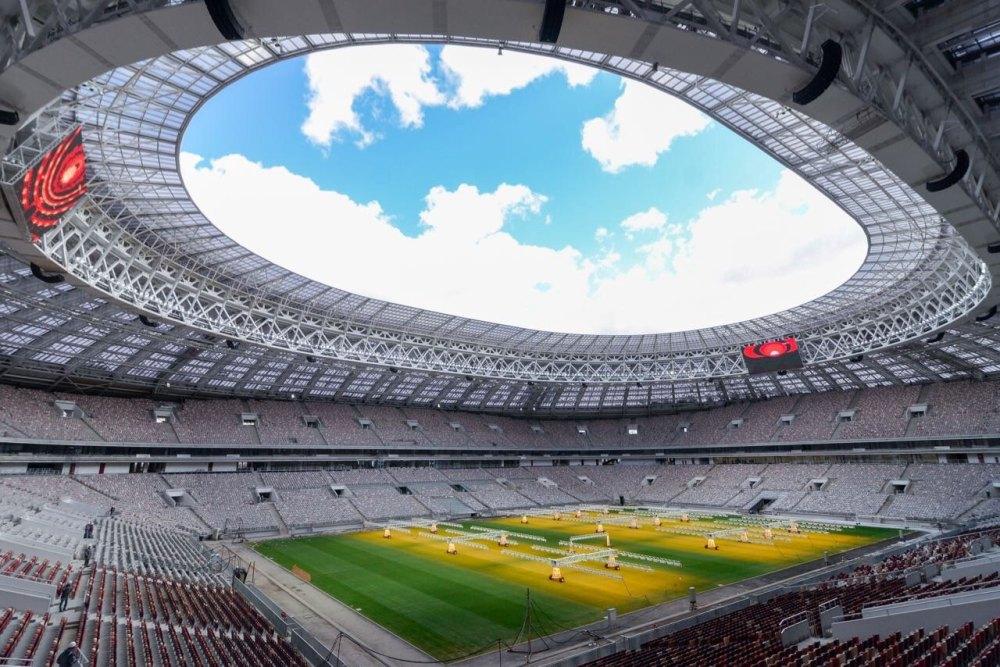 Футбольное поле Лужников