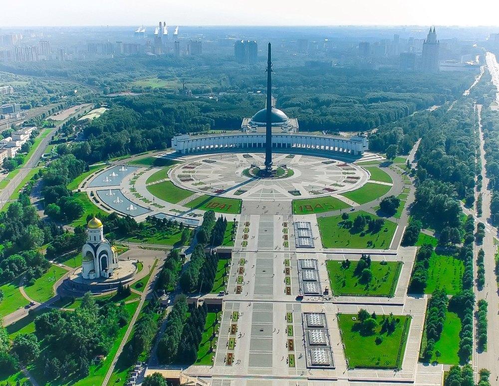 Поклонная гора в Москве, общий вид