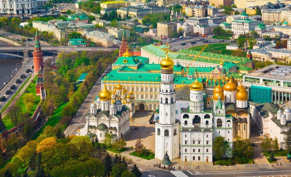 Соборная площадь на территории Московского кремля