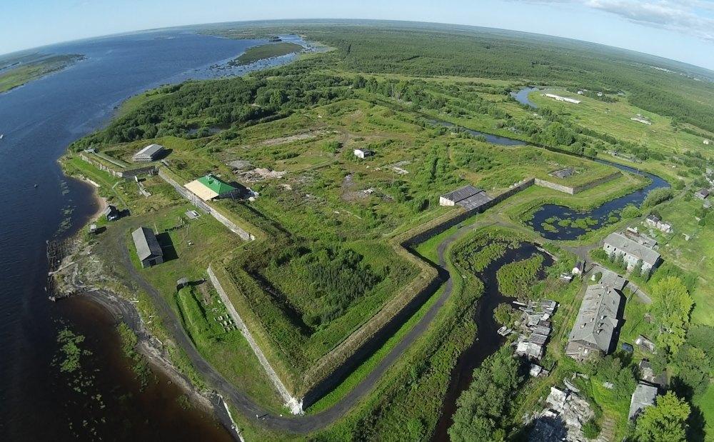 Новодвинская крепость, вид сверху