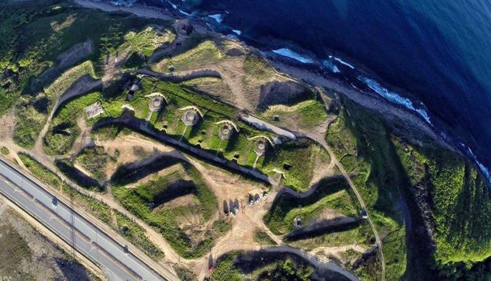 Вид на оборонительные сооружения