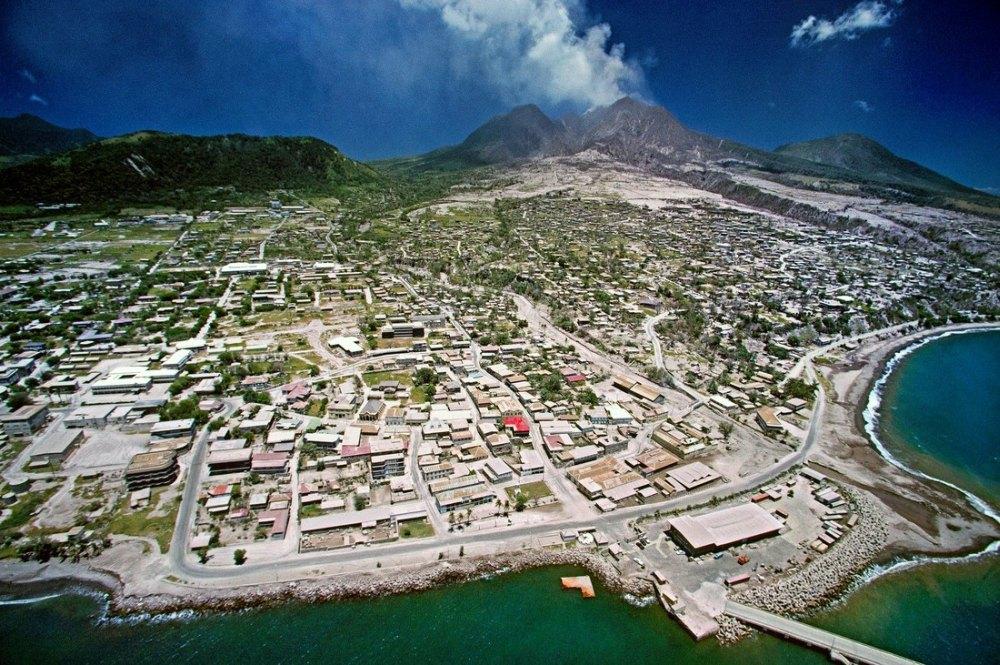 Монтсеррат до извержения вулкана