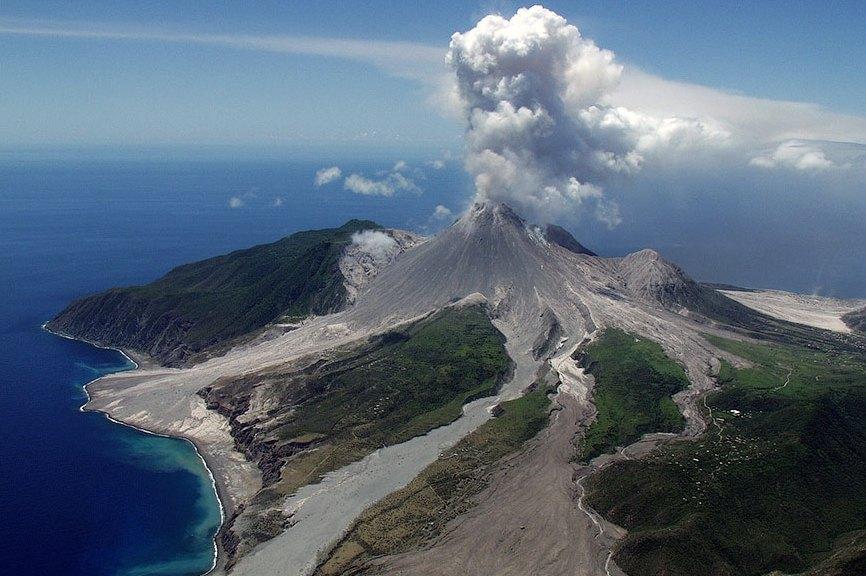 Вулкан уничтожил город