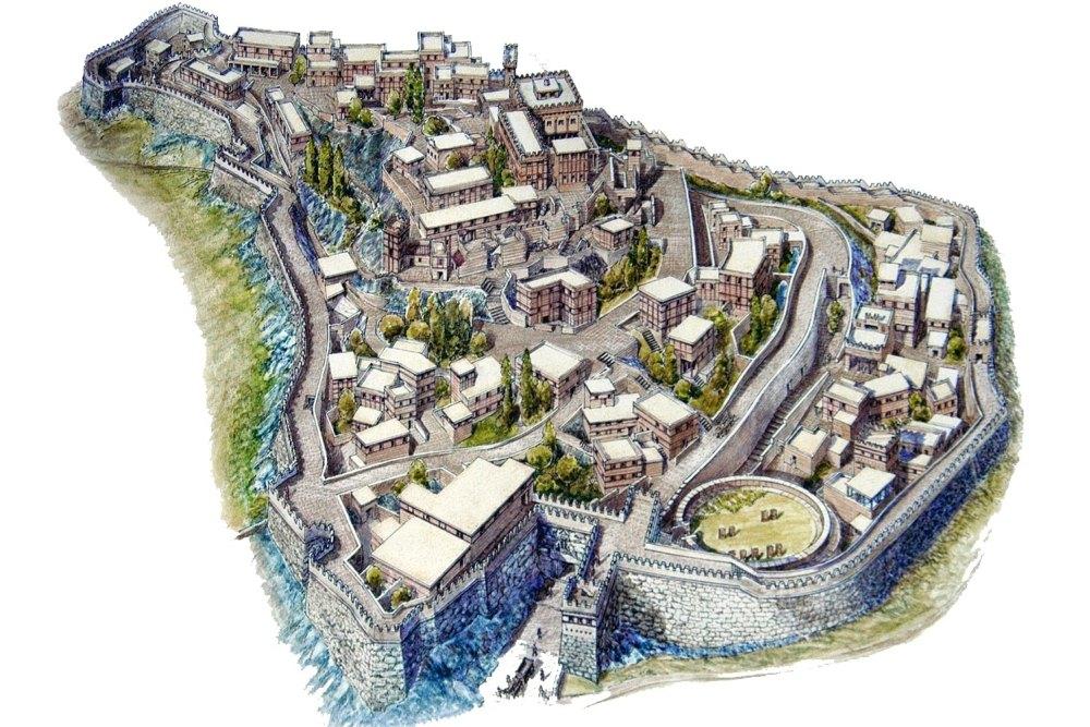 Реконструкция древнего города