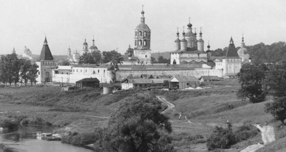 Вид Боровского монастыря в 19 веке