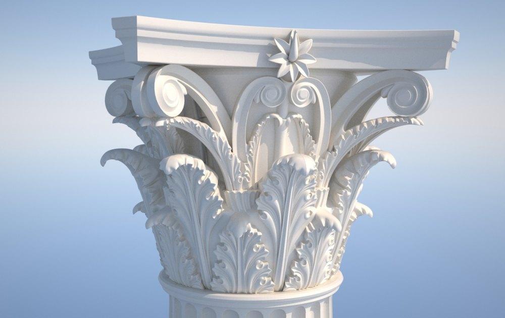 Вид коринфской колонны