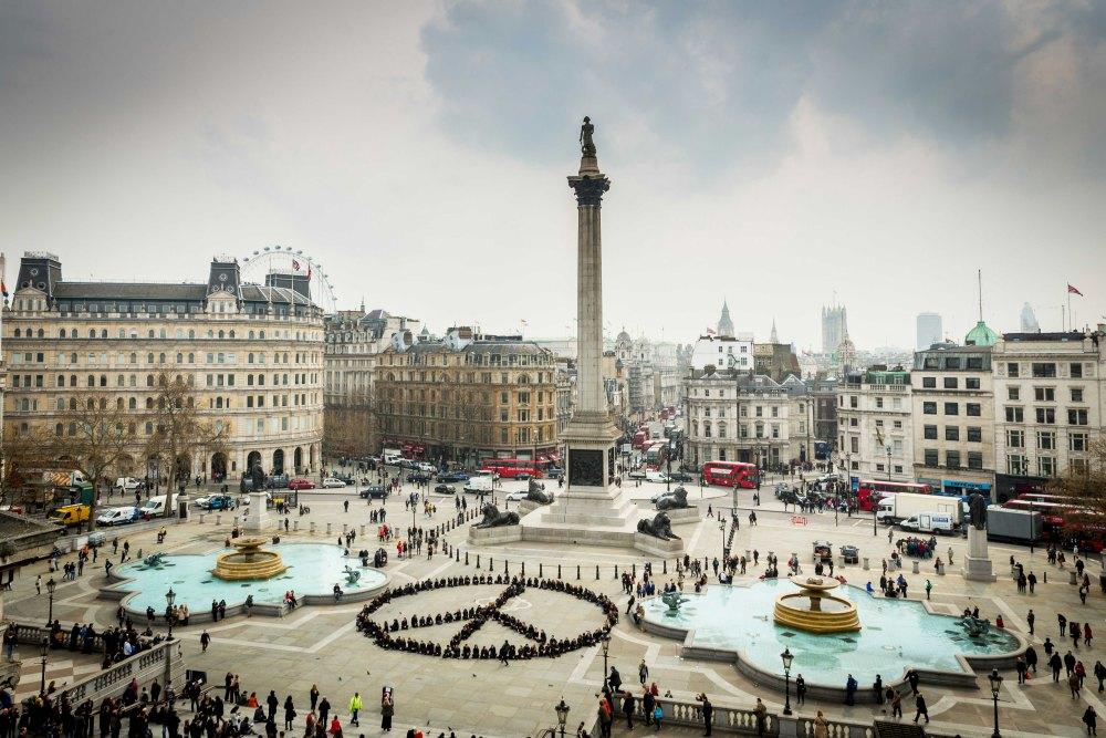 Трафальгарская площадь в центре Лондона