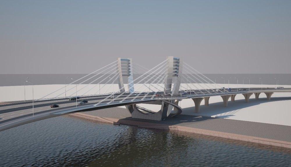Проект современного моста в Санкт-Петербурге