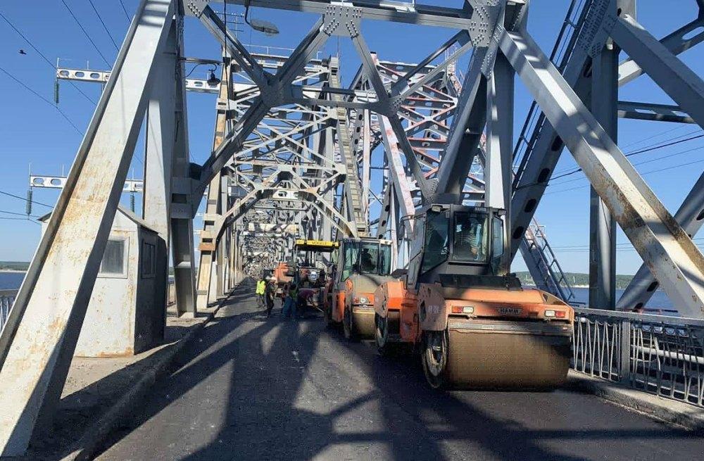 Ремонт моста в Ульяновске