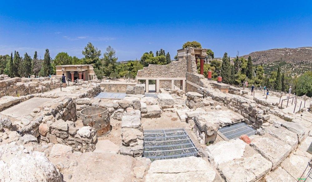 Кносский дворец, руины