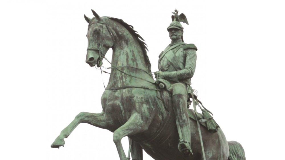 Главное – стремительное движение коня, встающего на дыбы