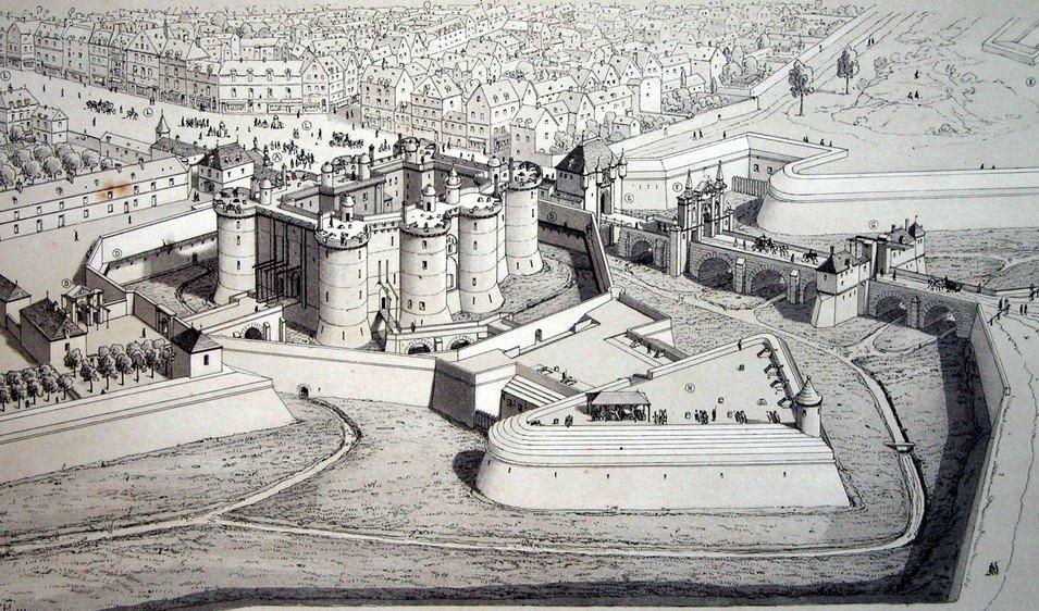 Бастилия, рисунок