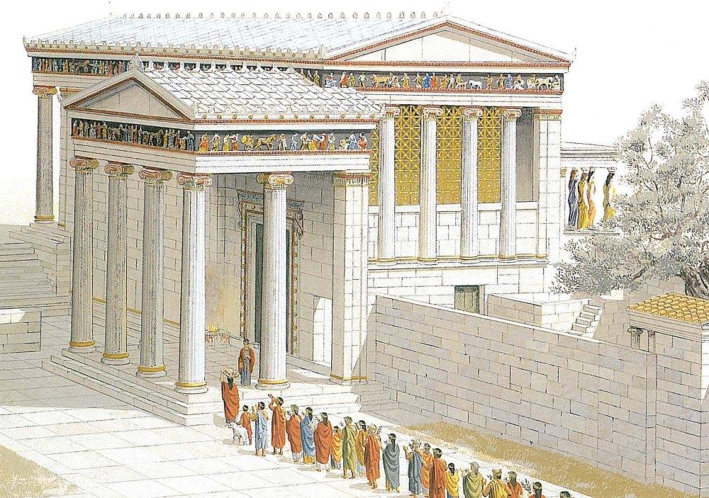 Таким был храм Эрехтейон