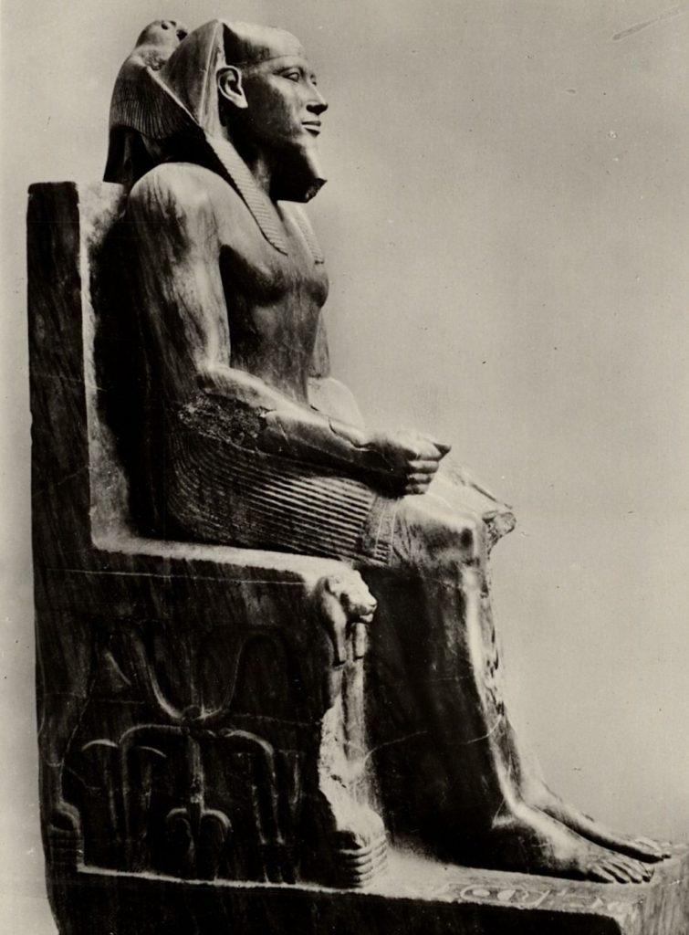 Диоритовая статуя Хефрена