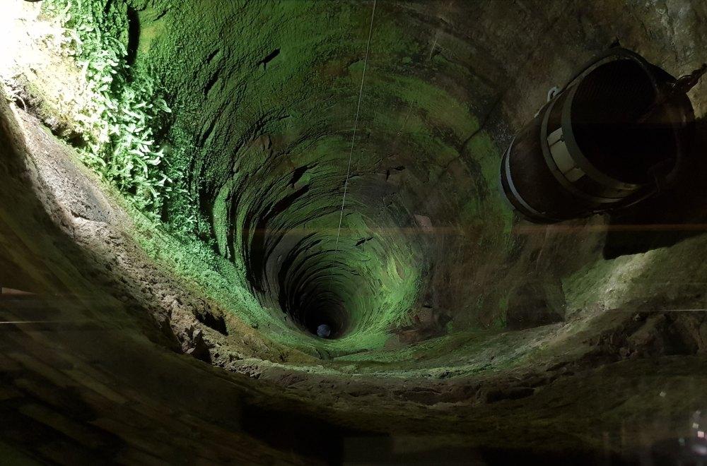 Глубина колодца 152,5 м