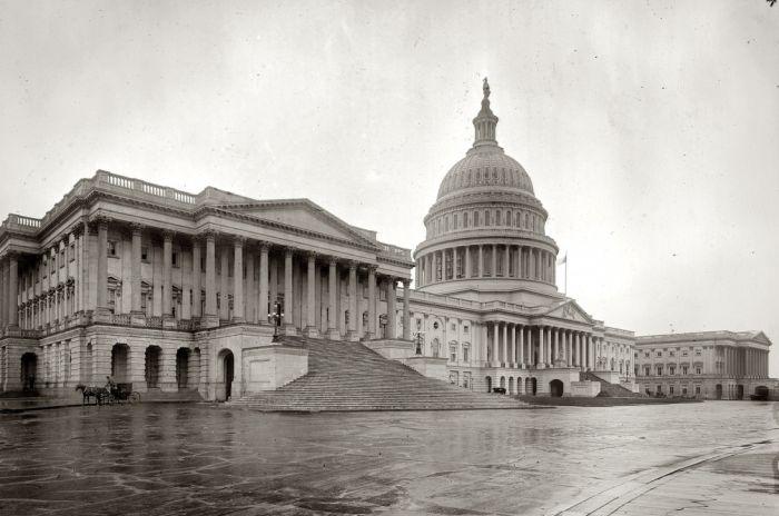 Здание Конгресса США в 19 векее