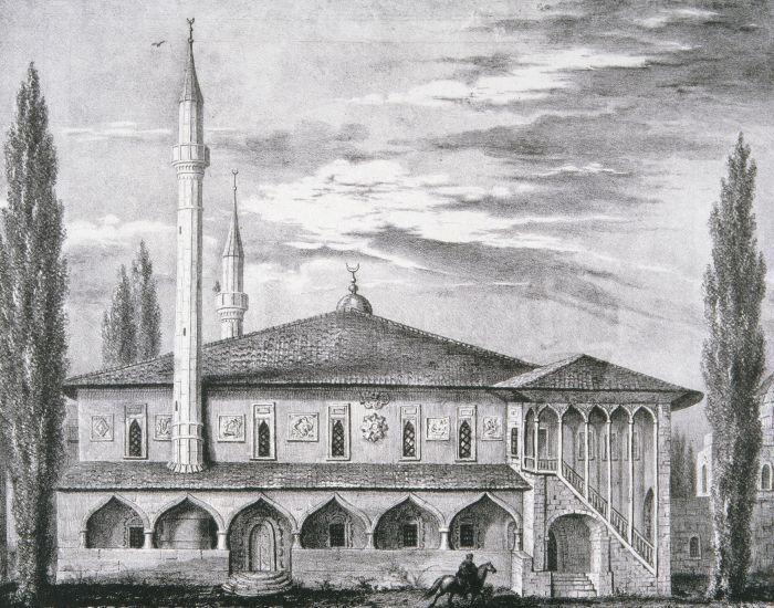 Гравюра, ханский дворец